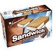 Helado sandwich nata y chocolate Caja 6 uds 300 gr Somosierra