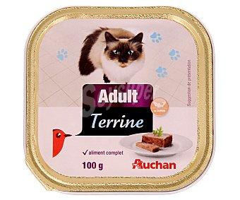 Auchan Comida Húmeda para Gato. Paté Salmón y Gambas Tarrina 100 Gramos