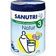 Natur 3 fórmula de crecimiento a partir de 1 año Bote 800 g Sanutri