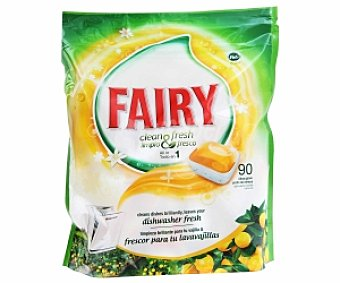 FAIRY Clean&Fresh Detergente Lavavajillas, Limpio y Fresco 90 C