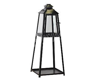 HP Farol decorativo para jardín con forma de pirámide, fabricado en metal y cristal 1 unidad