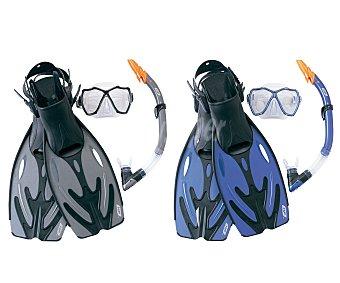 Bestway Set de buceo compuesto por aletas de la talla l-xl, mascara y tubo 1 unidad