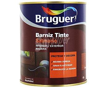 BRUGUER Barniz para muebles con tinte de color Teca y acabado satinado 0,75 litros