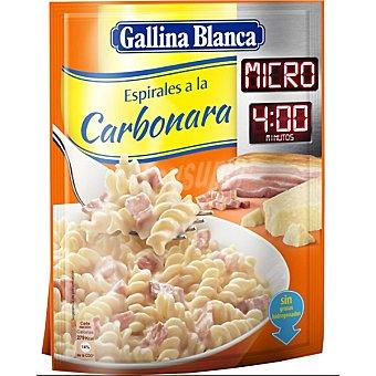 Gallina Blanca Espirales a la carbonara micro 4 minutos Sobre 89 g