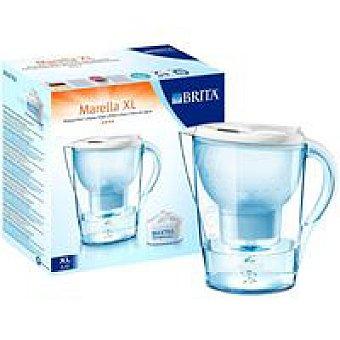XL BRITA Jarra filtrante Marella blanca Pack 1 unid