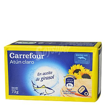 Carrefour Atún Claro en Aceite de girasol 73 g
