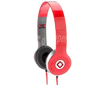 INNOVA X56R Auriculares tipo Casco Rojo, con cable y micrófono