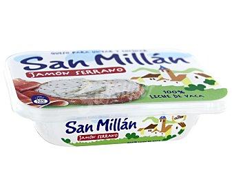San Millán Queso para Untar con Trocitos de Jamón Serrano 125 Gramos