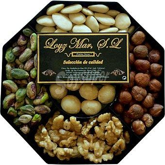 Loyz Mar Cesta Aglaya con pistacho pelado, avellana cruda, nuez pelada, almendra cruda repelada y macadamia cruda cesta 230 g 230 g