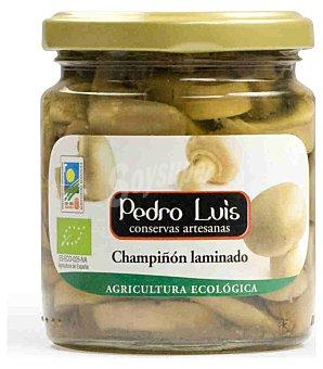 Pedro Luis Champiñon laminado ecológico Frasco 124 g neto escurrido