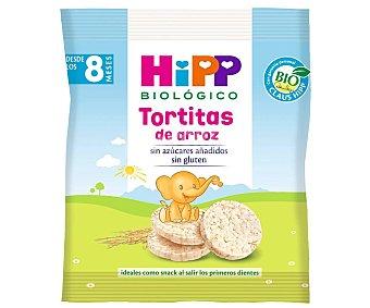 HiPP Biológico Tortitas de arroz sin azúcares añadidos a partir de 8 meses Paquete 30 g