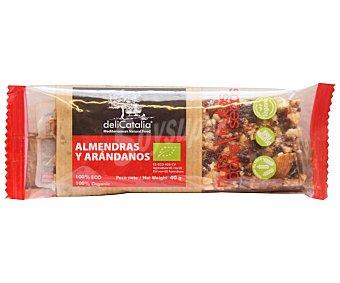 Delicatalia Cereales en barrita con almendras y arándanos Bio 40 g