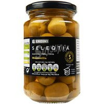 Eroski Seleqtia Aceitunas sabor manzanilla Eroski Frasco 200 g