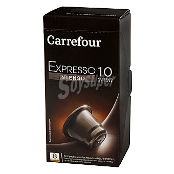 Carrefour Café expresso intenso en cápsula 10 cap