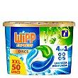 Discs detergente máquina líquido limpieza profunda 4 en 1 caja 50 dosis Wipp Express
