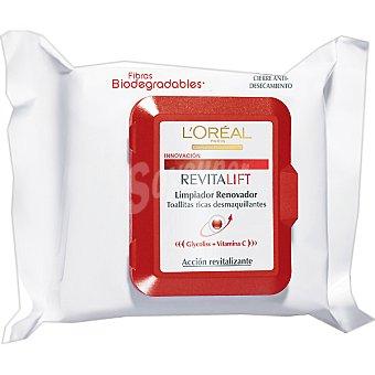 Revitalift L'Orèal Paris Toallitas Revitalift limpiador renovador Paquete 25 unidades
