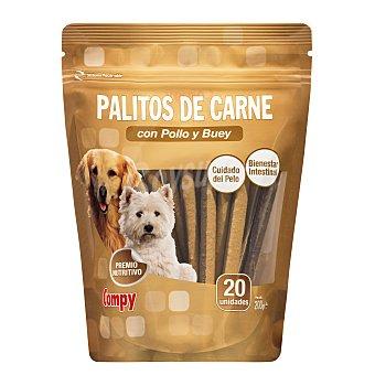 Compy Comida perro palito carne con pollo y buey adulto 20 x 10 g