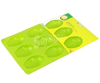 Productos Económicos Alcampo Molde de silicona con capacidad para 9 galletas, 7x4,6 centímetros Alcampo.