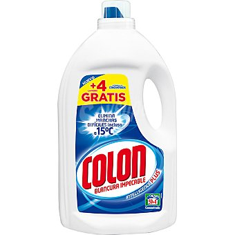 COLON detergente máquina líquido gel azul botella 59 dosis + 4 gratis