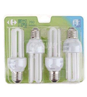 Carrefour 4 bombillas 14W E27 fria