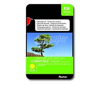 Auchan Cartucho Amarillo T0444 (E26) - Compatible con impresoras: epson Stylus C64 / C66 / C84 / C84N / C84WN / C86 / CX3600 / CX3650 / CX4600 / CX6400 / CX6600