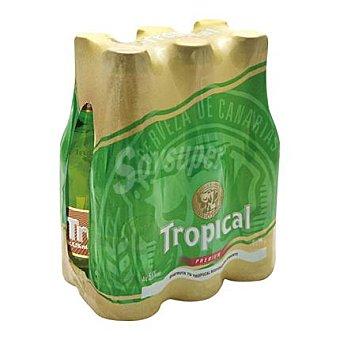 Tropical Cerveza Rubia Premium Pack 6 Unidades de 25 Centilitros