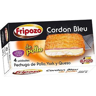 Fripozo Cordon bleu pechuga de pollo jamón y queso 4 unidades envase 360 g 4 unidades