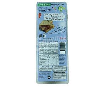 Auchan Pan de molde de arroz integral sin gluten (controlado por la face) 480 gramos