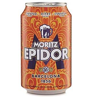 MORITZ EPIDOR Cerveza rubia nacional  Lata de 33 cl