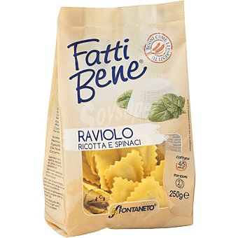 Fontaneto Ravioli con ricotta y espinacas bolsa 250 g