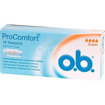 o.b. tampones procomfort super caja 16 unidades