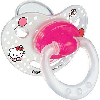 TIGEX Chupetes fisiológicos Hello Kitty con tetina de silicona +6 meses blister  2 unidades