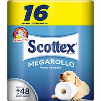 Scottex Papel higiénico mega Paquete 16+8 rollos