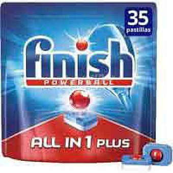 FINISH Todo en 1 Lavavajillas máquina Bolsa 25+10 dosis