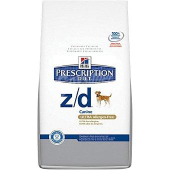 Hill's Prescription Diet Z/D alimento especial para perros con intolerancias alimentarias envase 10 kg