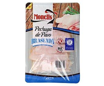 Monells Pechuga de pavo braseada, sin gluten y sin lactosa, cortada en lonchas Paquete 110 g
