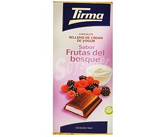 TIRMA chocolate relleno de crema de yogur sabor frutas del bosque tableta 95 g
