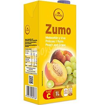 Condis Zumo melocot-uva Brick 1 l
