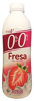 HACENDADO Yogur líquido desnatado fresa Botella de 1 L
