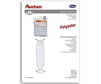 Auchan Funda interior para plancha o muletón ajustable con densidad de 400 gramos/metro², 150x55 centímetros 1 unidad
