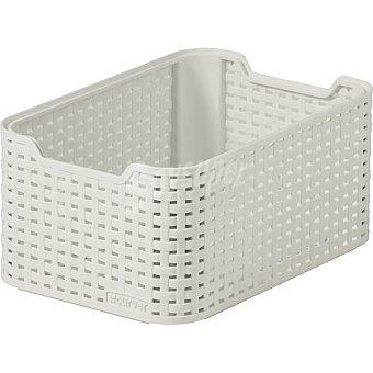 CURVER Natural Style Caja de plástico blanco 7 l