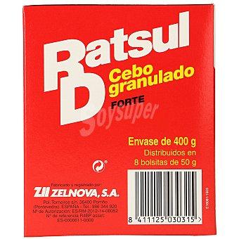 Ratsul Raticida cebo granulado antiroedores Caja 400 gr