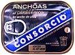 Anchoa filete aceite oliva (anchoas del cantabrico) Lata 50 g peso escurrido neto Consorcio