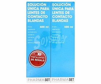 Pharmaset Solución única para lentes de contacto blandas, 500 Mililitros