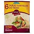 Tortillas mejicanas de trigo maxi Paquete de 6 unidades (360 g) Hacendado