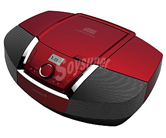 SUNSTECH CRUBT500RD Radio CD Multiformato, con sintonizador de radio am/fm, usb, Bluetooth, salida de auriculares