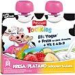 Batido de fresa y platano 85% yogur + fruta en puré sin trocitos pack 2 bolsas 80 g Pack 2 bolsas 80 g PASCUAL YOGIKIDS