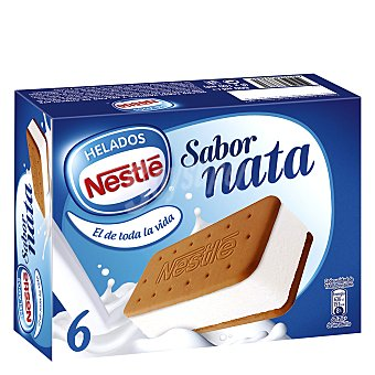 Nestlé Helado Sandwich de nata 6 ud
