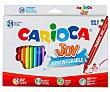 Pack de 24 rotuladores joy, con doble punta, 4.7 y 2.6 mm, surtidos en colores, tinta lavable, CARIOCA. Pack de 24 Carioca