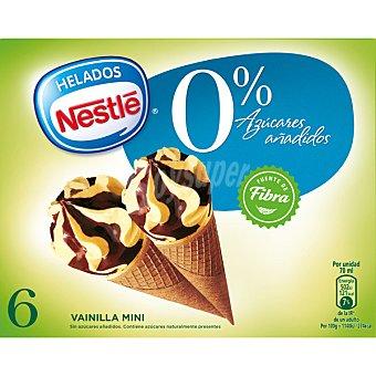 NESTLE Mini cono sin azúcares añadidos sabor vainilla y chocolate 6x420 ml